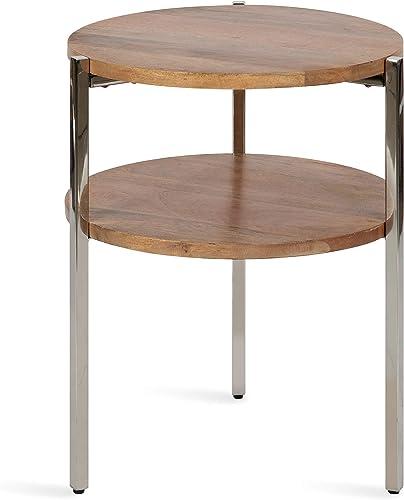 Kate and Laurel Lamaar Modern Round Side Table