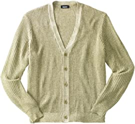1ae992a6a9b3f KingSize Men s Big   Tall Shaker Knit V-Neck Cardigan Sweater