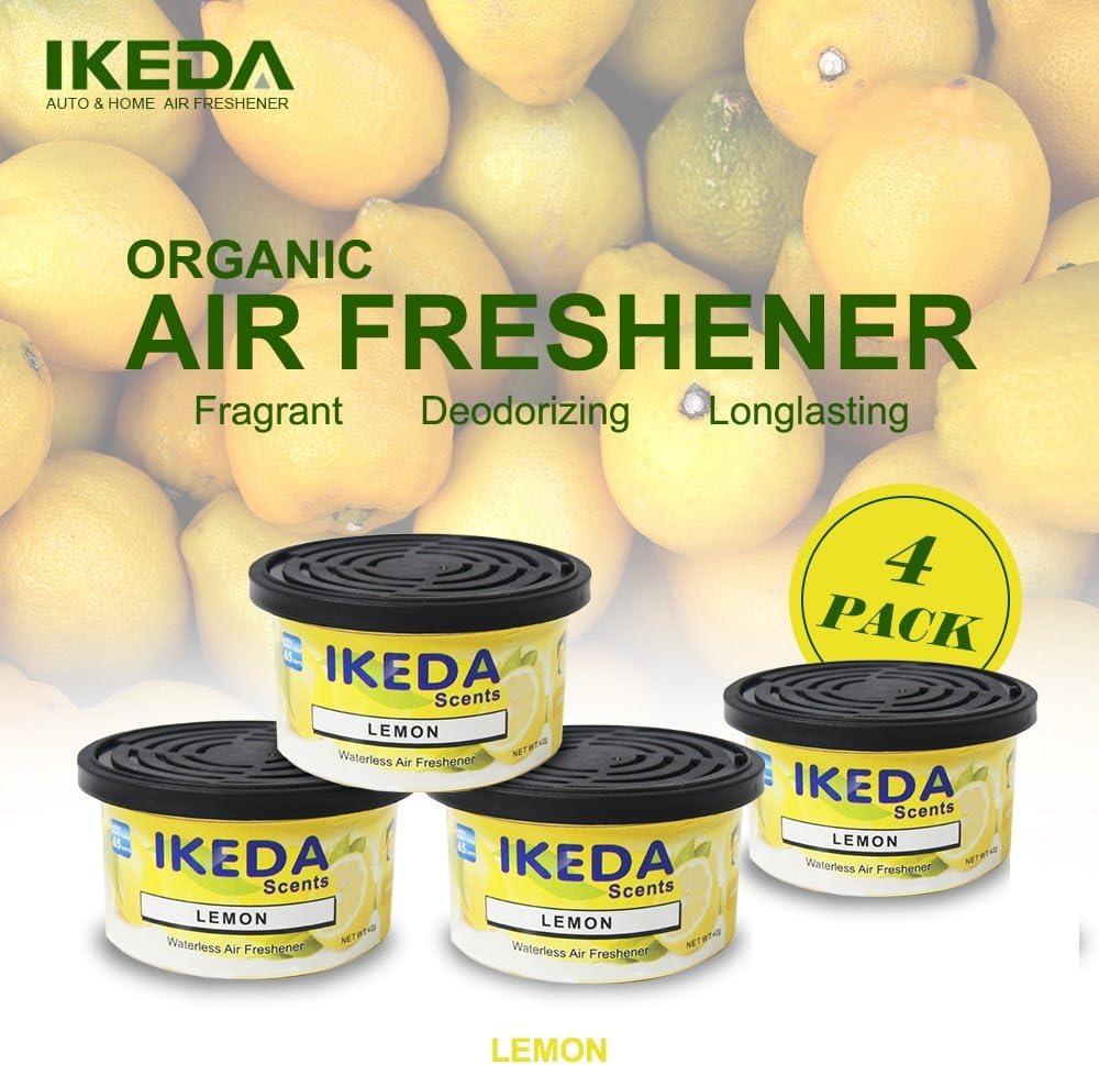 Ikeda Odor Eliminator Scents Organic Block Natural Air Freshener Eliminates Odor in Cars Bathrooms Boats RVs Room Kitchen and Pet Areas (Lemon, 12)