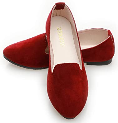 Women Burgundy Flats - Wine red Shoes