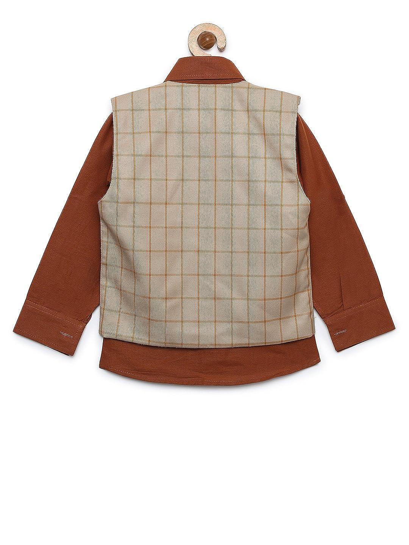 AJ Dezines Kids Indian wear Shirt and Vest Clothing Set for Boys