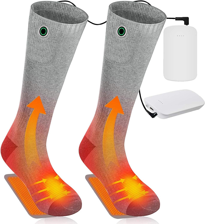 Electric Heated Socks Winter Boot Feet Warmer USB Rechargable Battery Sock USA