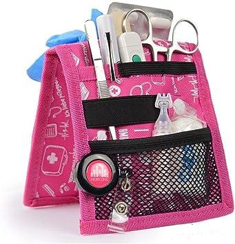 Salvabolsillos, Keens, Mobiclinic, Para bata o pijama, Diseño exclusivo con estampados en color rosa, Amo la enfermería: Amazon.es: Salud y cuidado personal