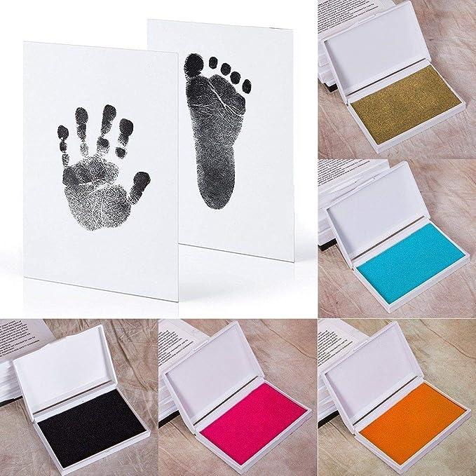 Silver ECYC Baby Handprint Footprint Ink Pads Newborns Paw Print Ink Kits