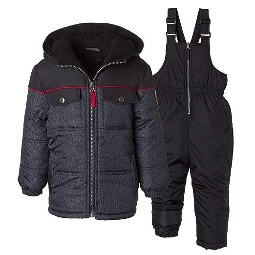 39722fd6e17c Amazon.com  iXtreme Toddler Boys Colorblock Snowsuit Puffer Winter ...