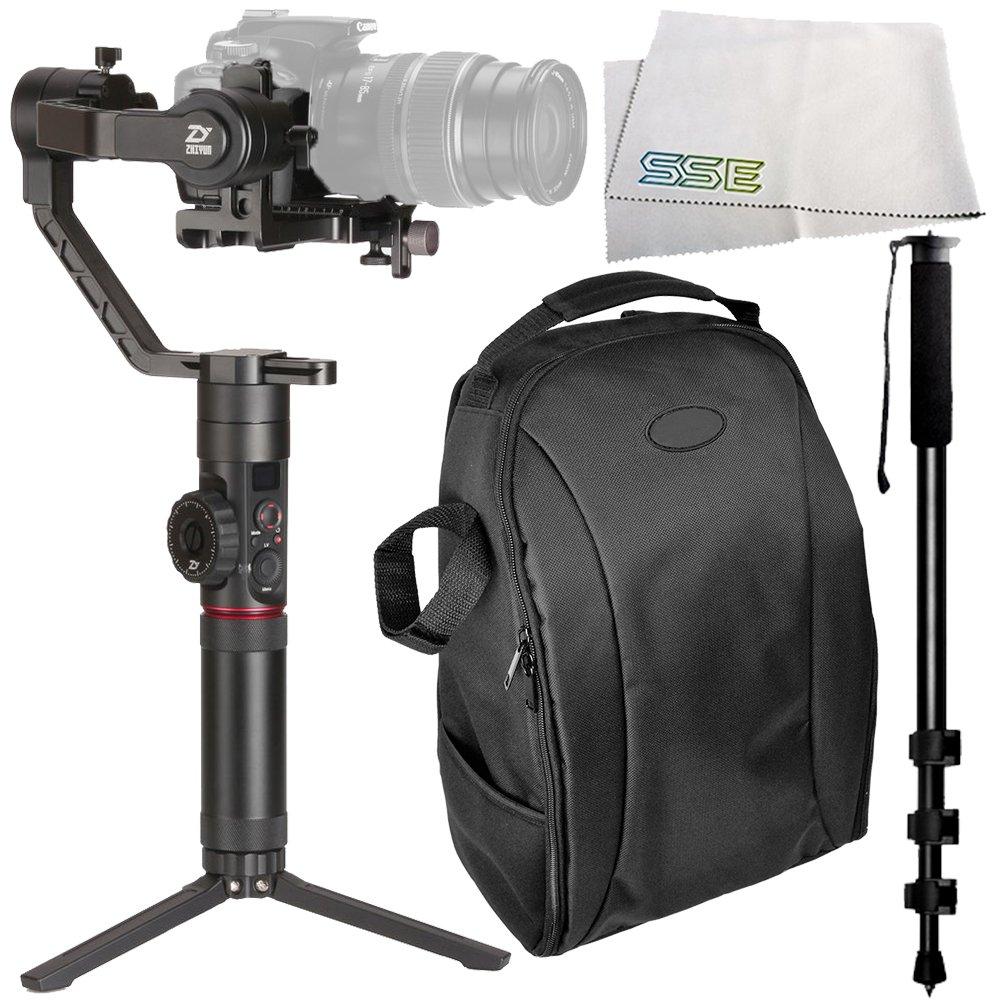 Zhiyun-Tech Crane-2 3軸スタビライザー キヤノン一眼レフ一眼レフカメラ用フォローフォーカス付き アクセサリー4点セット メーカー付属品 デラックスバックパックなど付き   B077NGWWNW