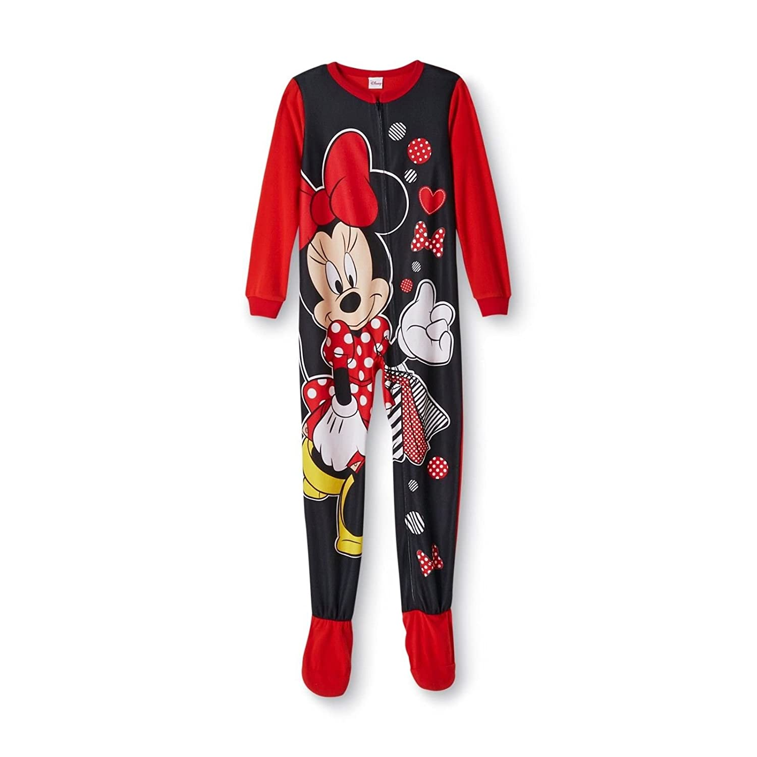 Disney Minnie Mouse Footed Blanket Sleeper Pajama Girl Size XS 4//5