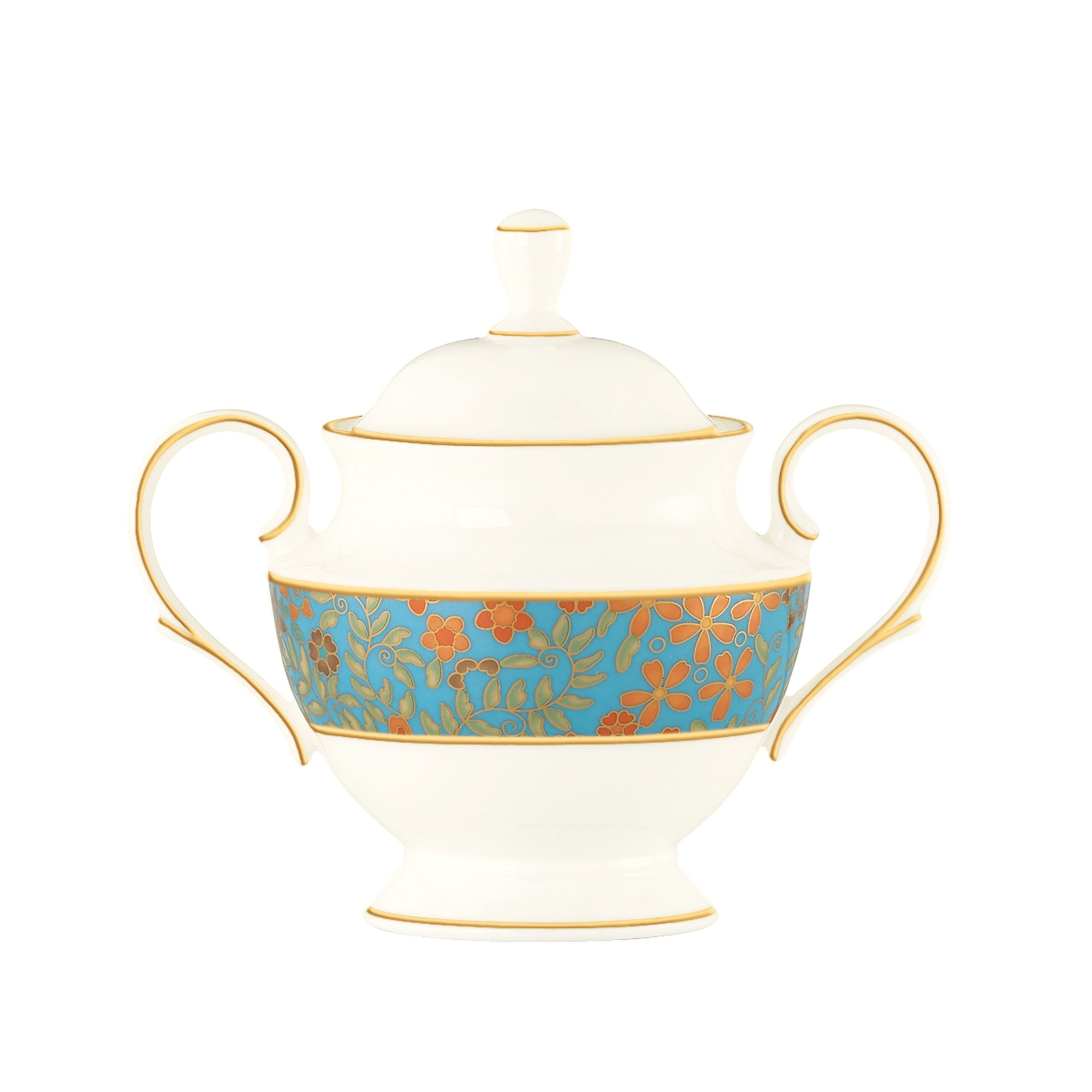 Lenox Gilded Tapestry Sugar Bowl with Lid