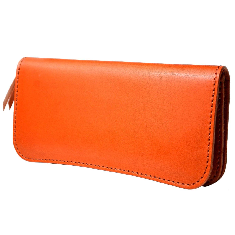 atelierCODEL 栃木レザー 長財布 日本製 ヌメ革 メンズ B071P5RSX3 オレンジ オレンジ