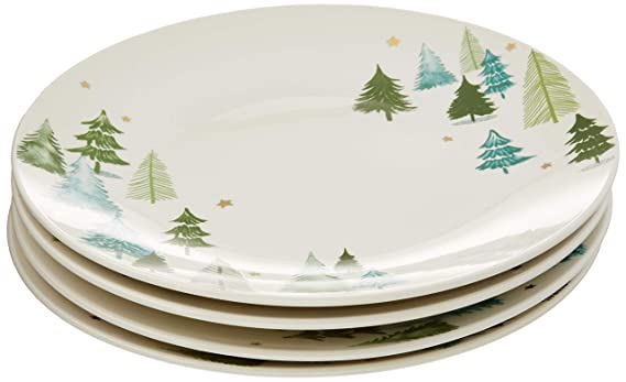 Lenox 880068 Balsam Lane 4-Piece Dinner Plate Set best christmas plate sets
