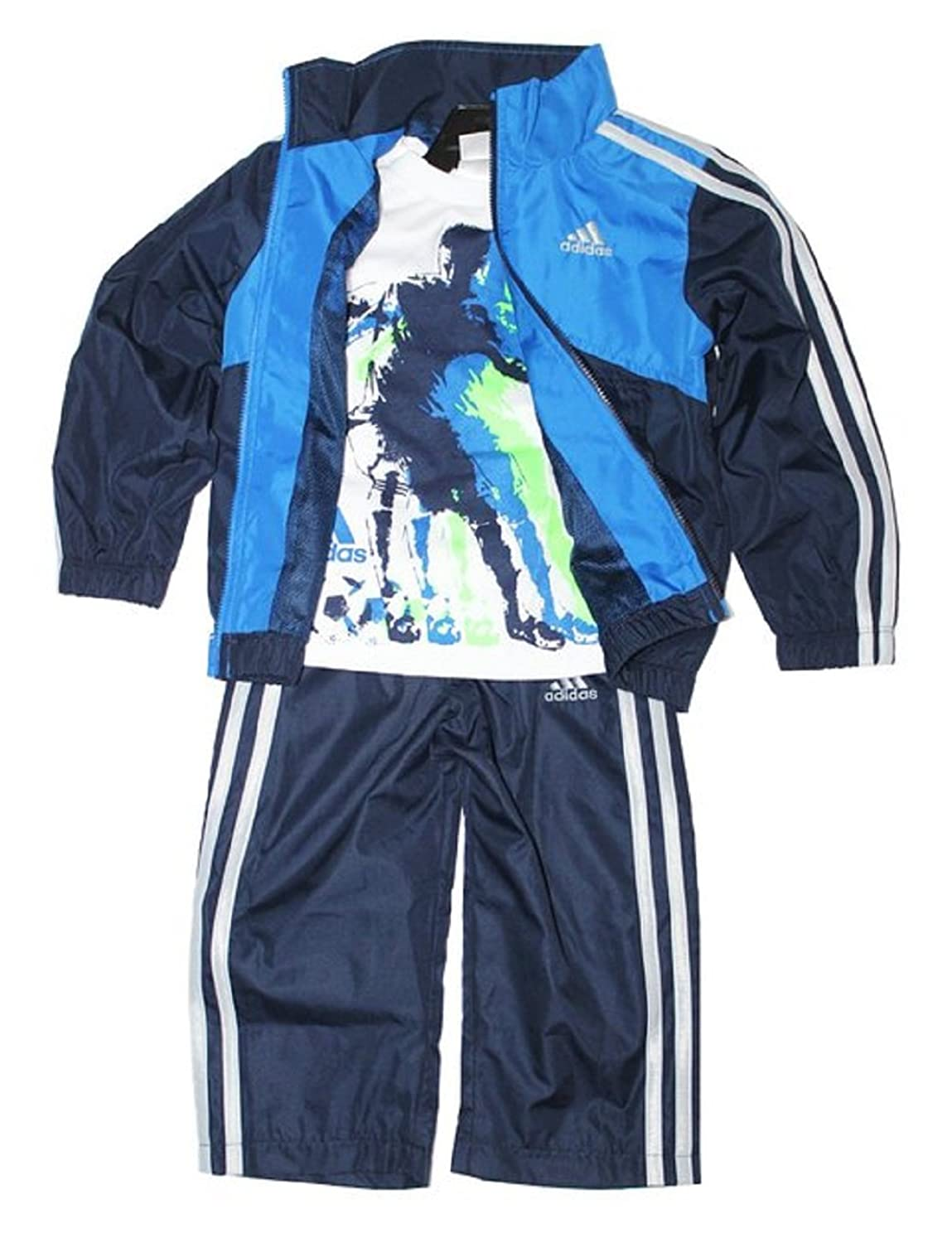 Hot Adidas Boys 3-piece Athletic Windsuit free shipping