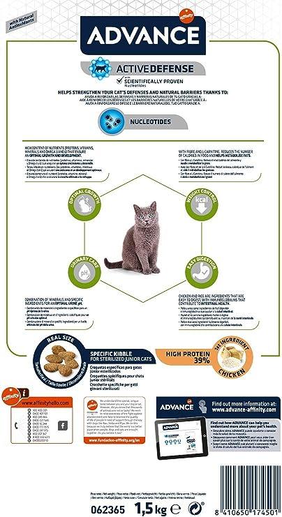 Advance Pienso para Gato Junior Esterilizado con Pollo - 1,5kg