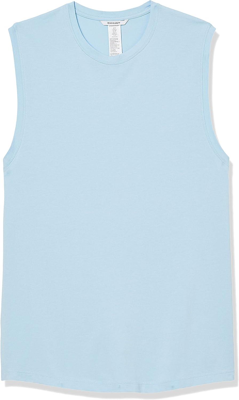 Amazon Brand - Peak Velocity Men's Pima Cotton Modal Sleeveless Tank