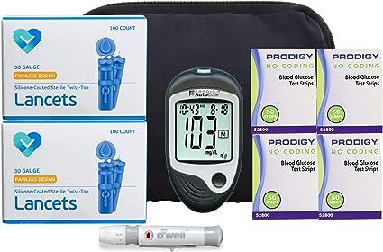 medidor de prueba para diabetes