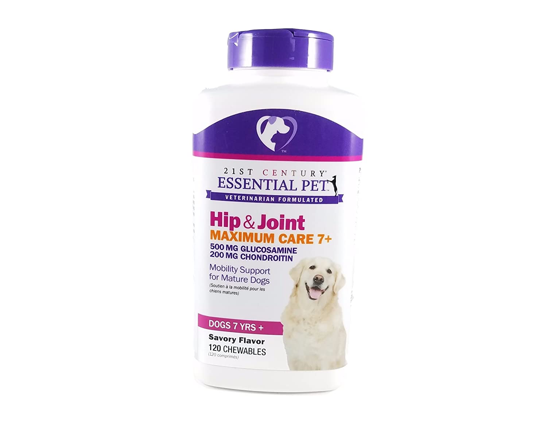 21st Century Glucosamine & Chondroitin Maximum Care Senior Dog Chewables, 120 Chewables