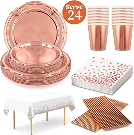 Silver Foil Plates Napkins Cups Tablecover Straws Party Bags Cutlery