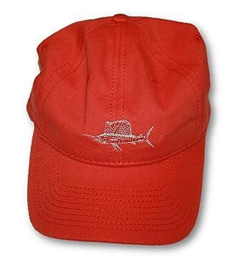 salt life embroidered swordfish baseball cap hat orange