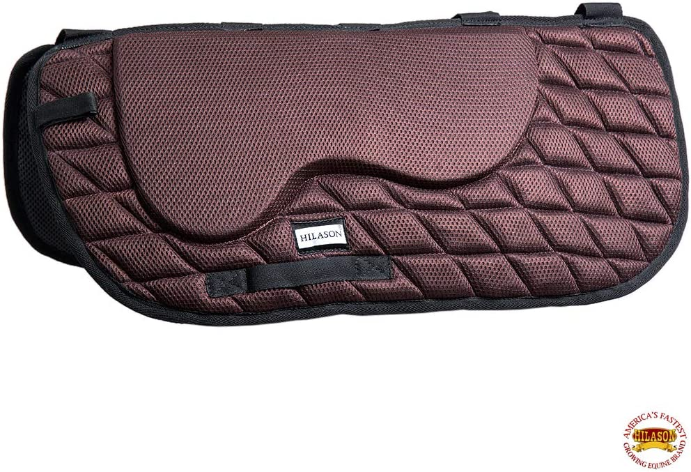 HILASON Ta120A Western Memory Foam Saddle Pad with Anti-Slip Brown