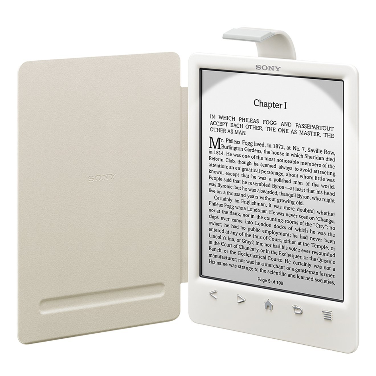 Sony PRSACL30W - Funda para ebook PRS-T3 (cubierta con luz), color ...