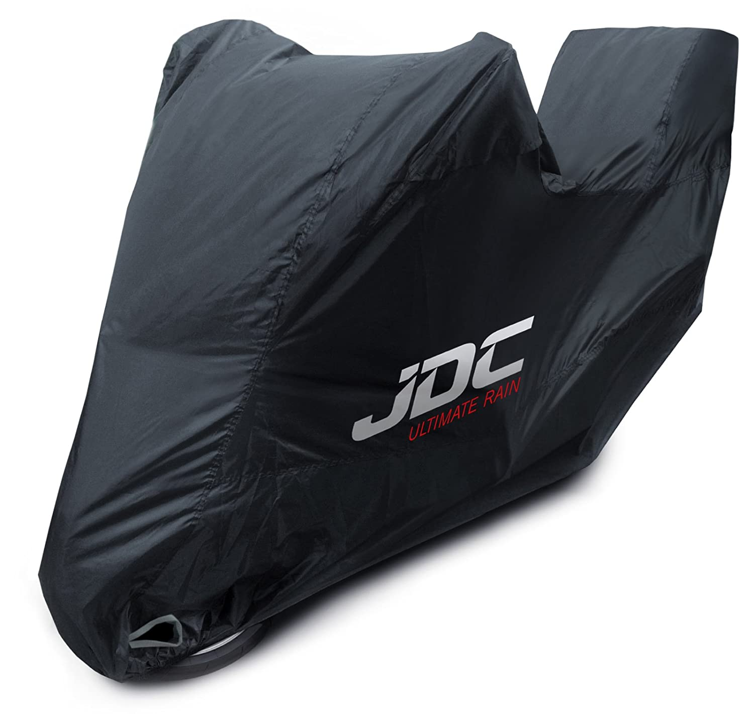 JDC Motorcycle 100% Waterproof Cover - ULTIMATE RAIN (Heavy Duty, Soft Lining, Heat Resistant Panels, Taped Seams) - XXL