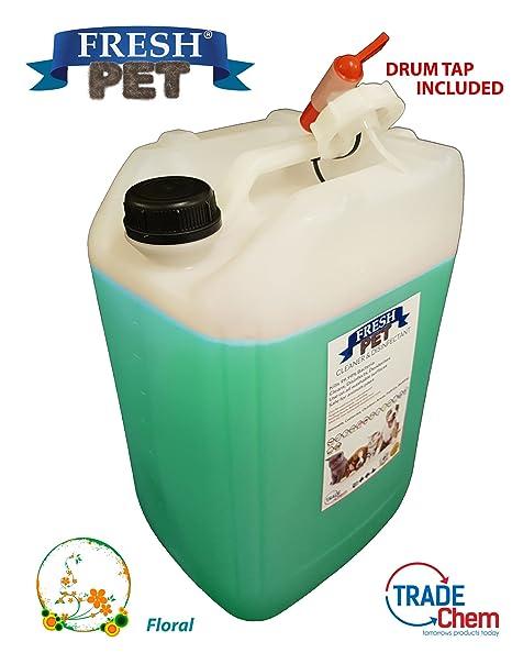 Fresh Pet - Desinfectante, limpiador y ambientador (floral), 20 L ...