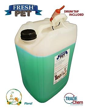 Fresh Pet - Desinfectante, limpiador y ambientador (floral), 20 L, para caseta de perro / gato: Amazon.es: Productos para mascotas