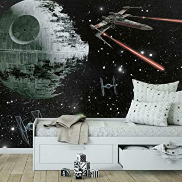 Roommates Star Wars Classic Vehicles Removable Wall Mural 10 5 Feet X 6 Feet Multicolor Amazon Co Uk Diy Tools