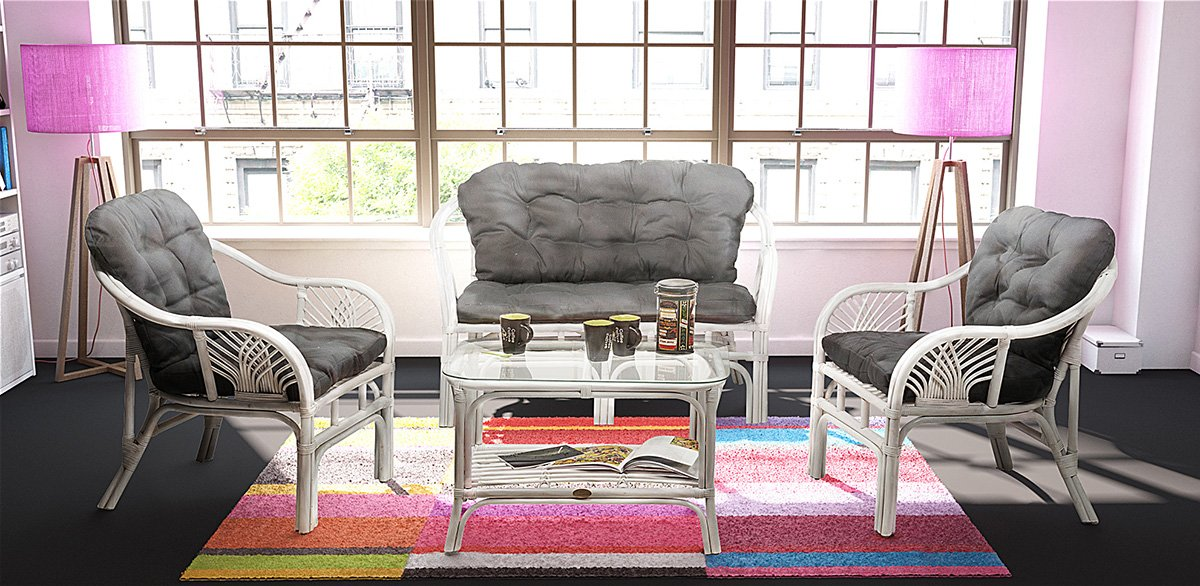 Rotin Design Rebajas : -25% Salón de Ratan Soller Blanco ...