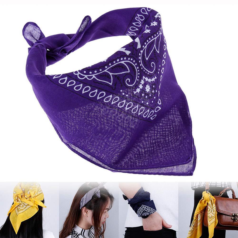 Obrid#e5on 12er Pack Bandana Paisley Kopftuch Halstuch Nickituch Biker Tuch Motorad Tuch Kopfband Haarband