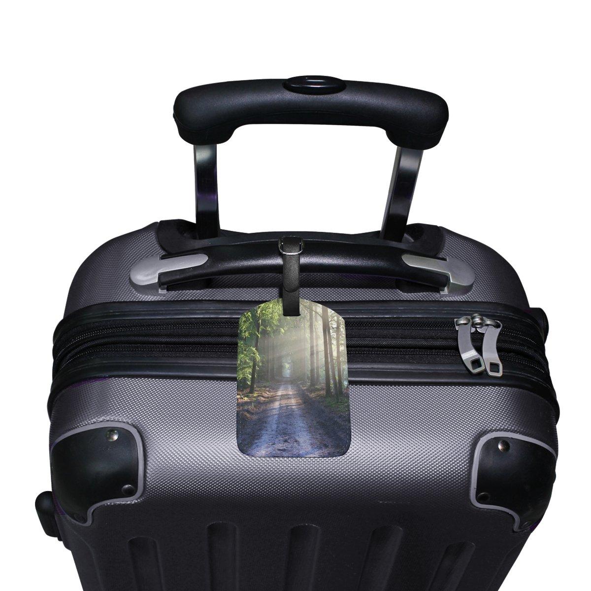 1Pcs Saobao Travel Luggage Tag Road PU Leather Baggage Suitcase Travel ID Bag Tag