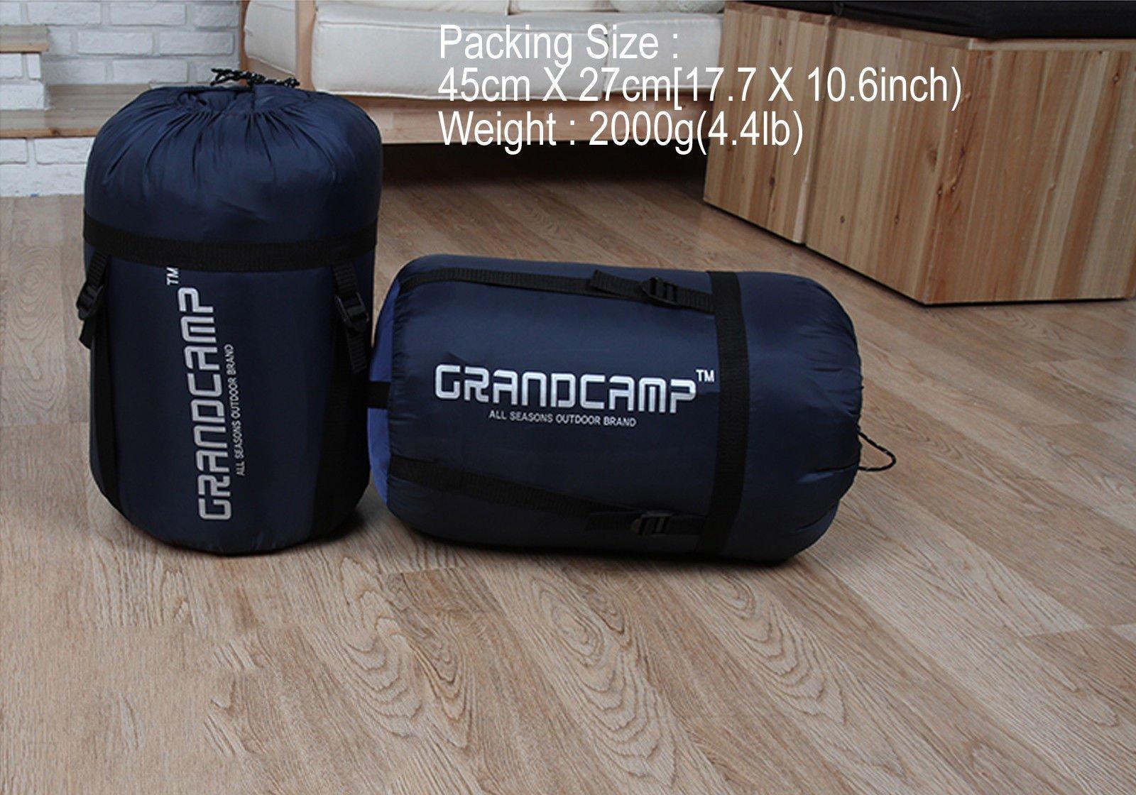 Down Sleeping Bag -15C/5F Camping Backpacking Hiking Trekking Mummy