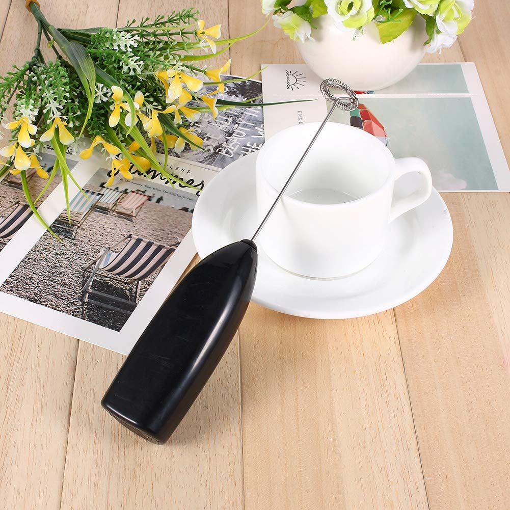 Bevande calde Latte Caff/è Montalatte Eggbeater Foamer Mixer elettrico Agitatore Utensile da cucina portatile in acciaio inox Mavis Laven Milk Frother Caff/è Foamer Black