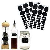 KLAGENA 93 Tafelaufkleber zum Beschriften in 3 verschiedenen Größen - Tafel-sticker/Vinyl-aufkleber/Kitchen Labels/Tafelfolien-Sticker/Tafel-Etiketten/Küchen-Aufkleber