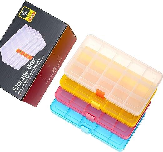 SOMELINE Plastik Aufbewahrungsbox Schmuckkasten f/ür die Schmuck Perlen und andere Mini Waren Sortierk/ästen Aufbewahrungsboxen Orange//Transparente 5 St/ück in 2 Gr/ö/ßen