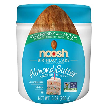 Fabulous Amazon Com Noosh Keto Friendly Birthday Cake Almond Butter Personalised Birthday Cards Paralily Jamesorg