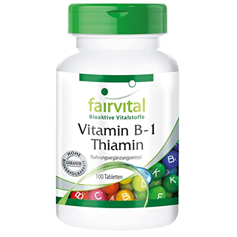 La vitamina B1 tiamina 100mg - A GRANEL durante 100 días - vegano - ALTA DOSIS