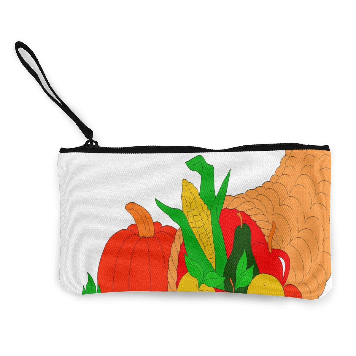 Canvas Coin Purse Citrus Fruit Bowl Cartoon Customs Zipper Pouch Wallet For Cash Bank Car Passport