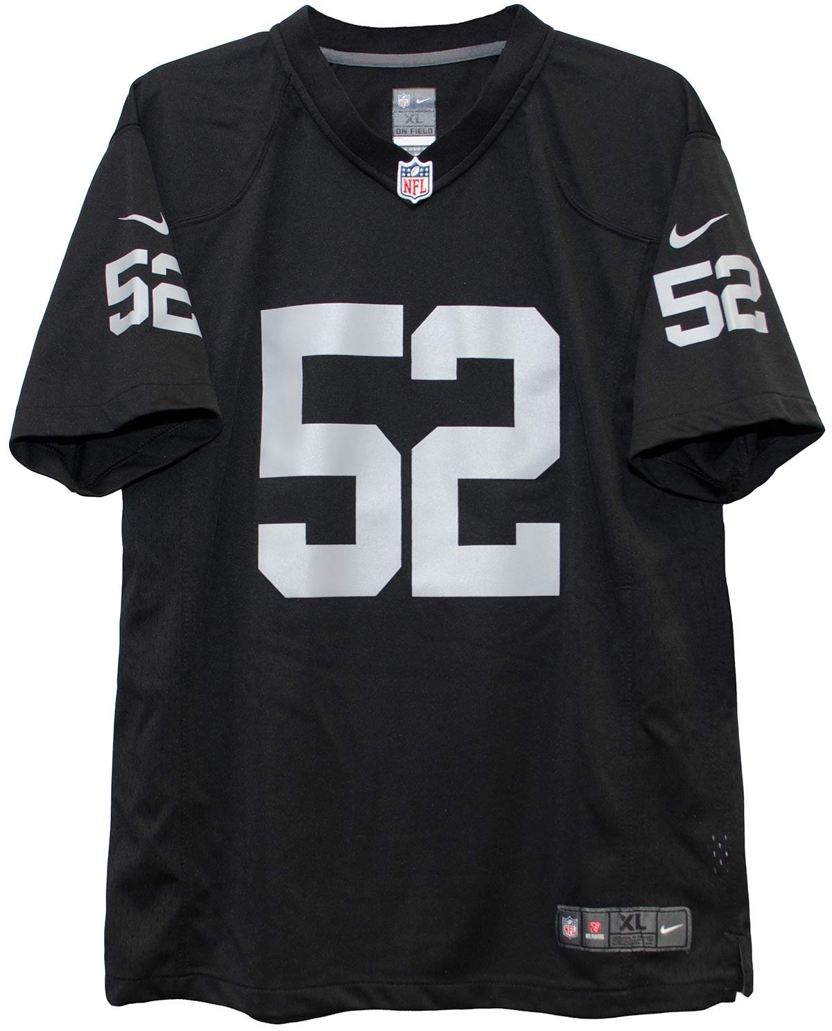 the best attitude fdcdc 8609a Nike Khalil Mack Oakland Raiders Team Color Game Youth Jersey