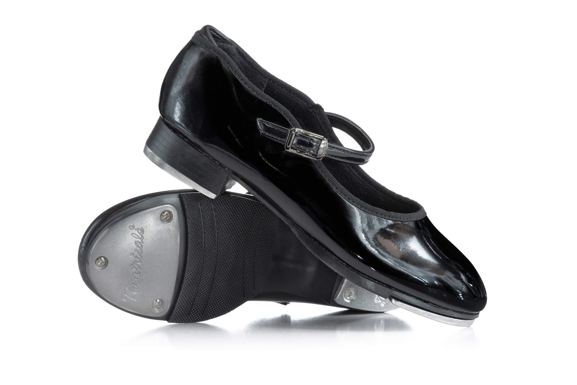 Theatricals Girls TapRite Molded Tap Slide Buckle Tap Shoes T9415CBLK13.5W Patent 13.5 W US Little Kid by Theatricals
