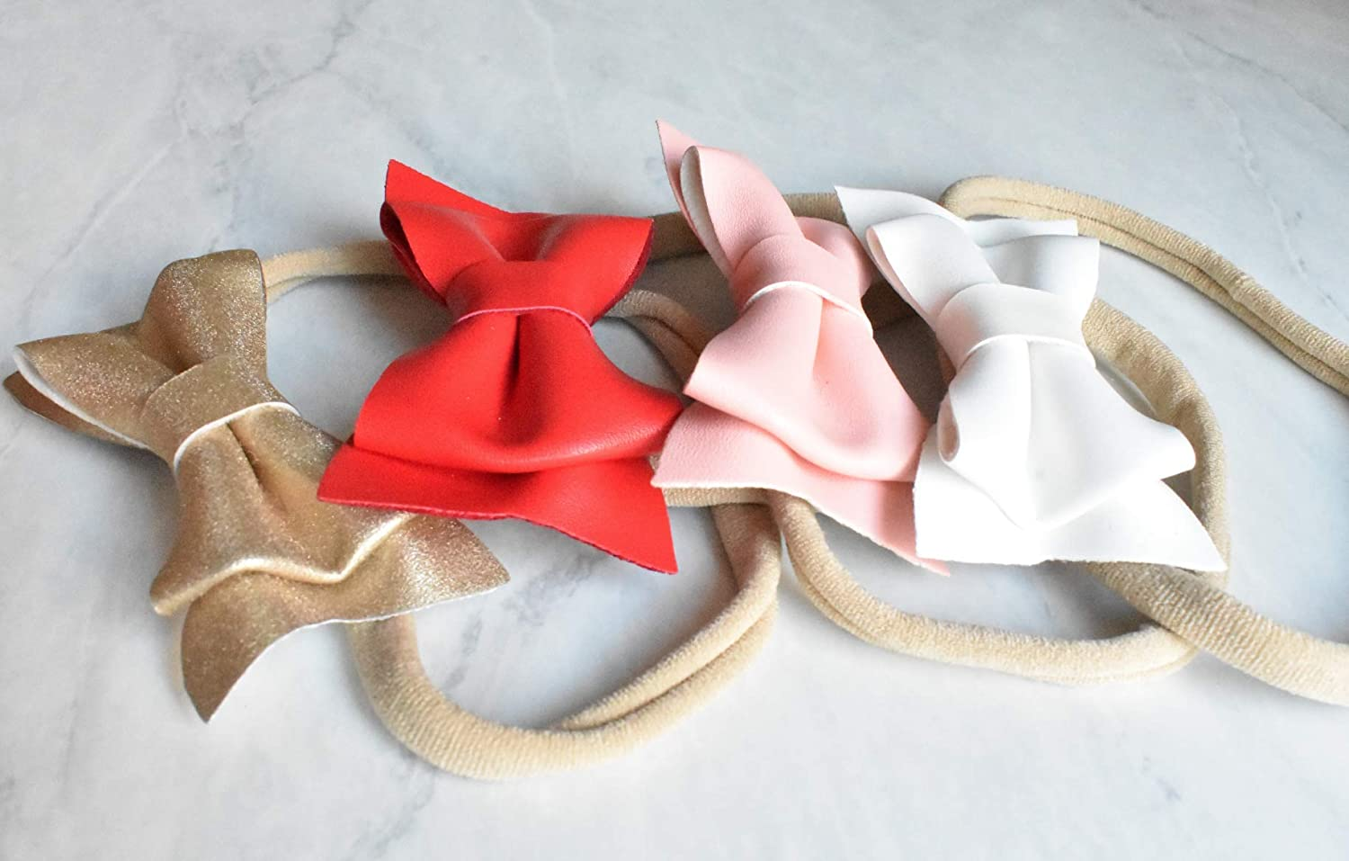 Baby Toddler Mixed Set of 4 or 7 California Tot Soft /& Stretchy Nylon Headbands for Newborn Girls