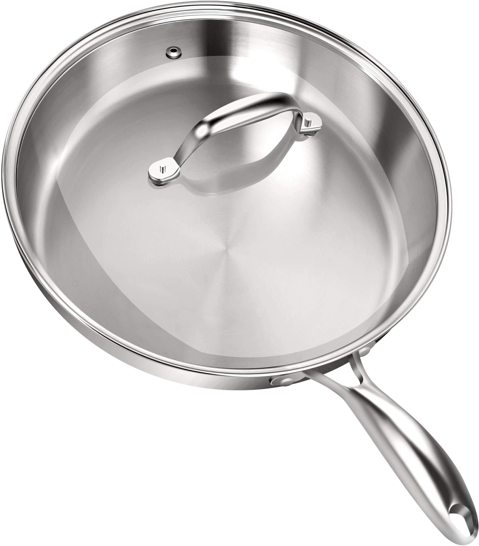 Sartén - Sarten Antiadherente - Acero Inoxidable Sarten Induccion - 30.5 cm – Plata – por