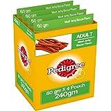 Pedigree Meat Jerky Stix Dog Treats, Bacon, 60 g Pouch (Pack of 4)