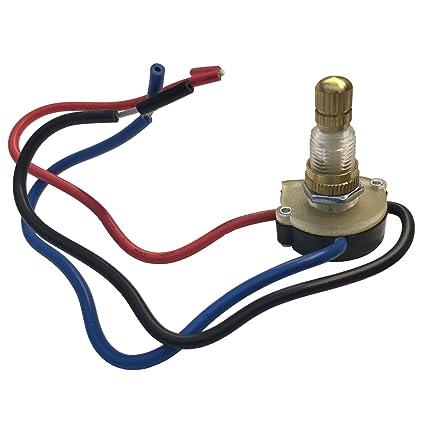 amazon com: gardner bender gsw-62 electrical rotary switch, dp3t, off-on(p)- on(n)-on(n+p), 6 a/125v ac, 6 inch wire terminal: home improvement