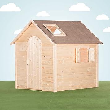 Coleur Garden – Casita grande de jardín para niños con ventanas en el tejado, versión en bruto: Amazon.es: Bricolaje y herramientas