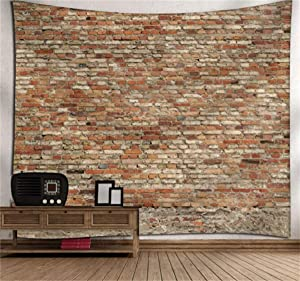 Home Tapestry Wall Hanging Nature Art Marble Loam Brick Wall Theme Dorm Bedroom Living Room Background Decor Tapestry 90x70 Inch