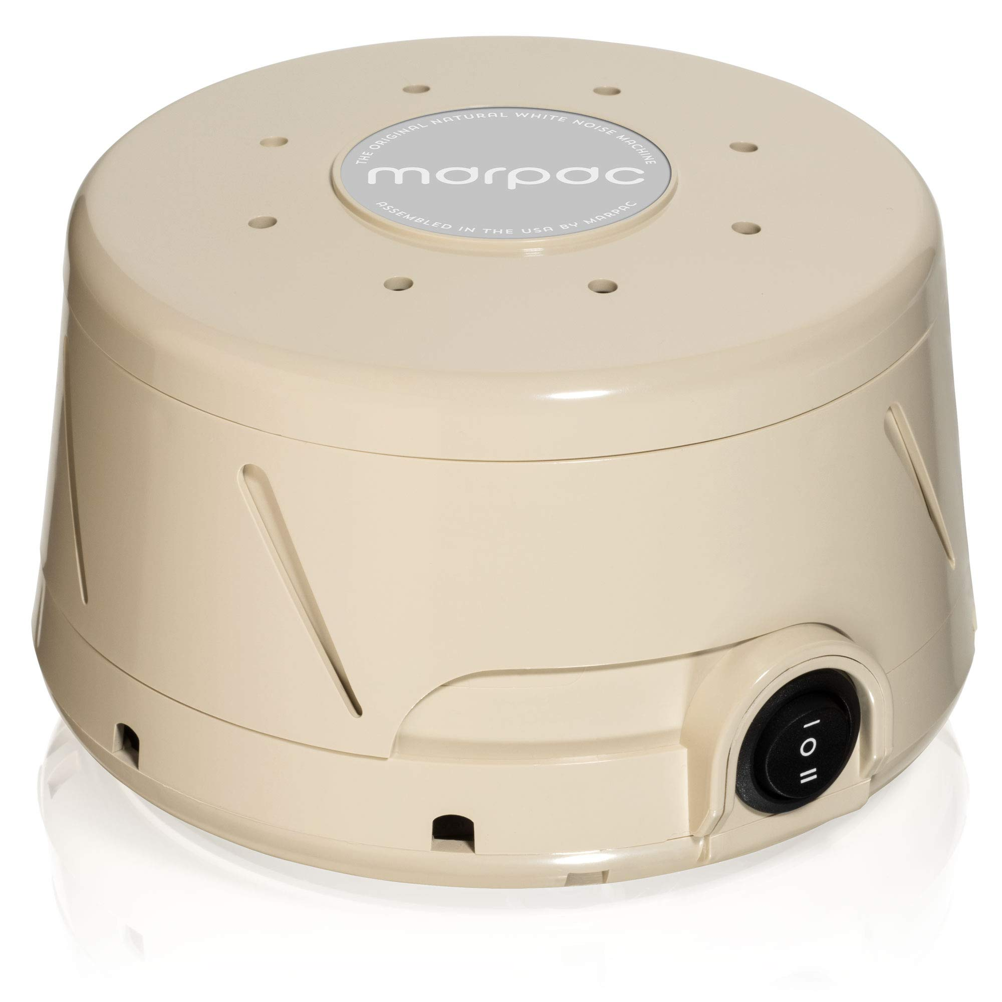 Marpac Dohm Classic White Noise Sound Machine with Soothing Sounds from A Real Fan. Helps Cancel Noise While You Sleep and Perfect for Adults and Children (Tan, Dohm)
