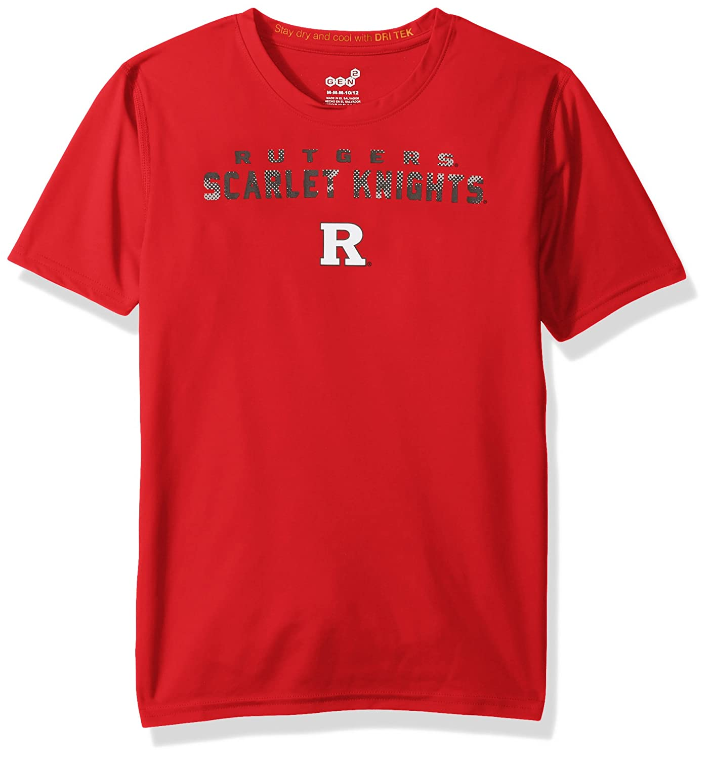 Youth X-Large 18 NCAA by Outerstuff NCAA Rutgers Scarlet Knights Youth Boys Nebula Dri-Tek Short Sleeve Tee Red