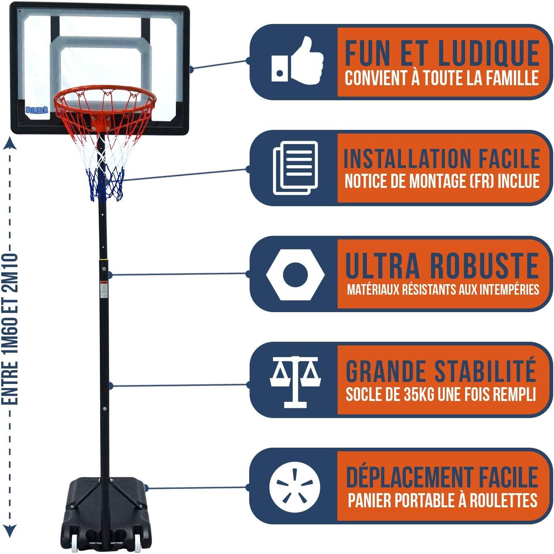Canasta de baloncesto - Bumber Orlando altura ajustable de 1.6 m ...