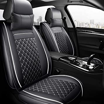 SMART FOR TWO 15 on FRONT LEATHER LOOK PAIR CAR SEAT COVER SET