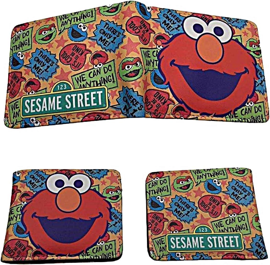 Elmo wallet Blue Children Boys Girls Wallet Kids Cartoon Coin Purse